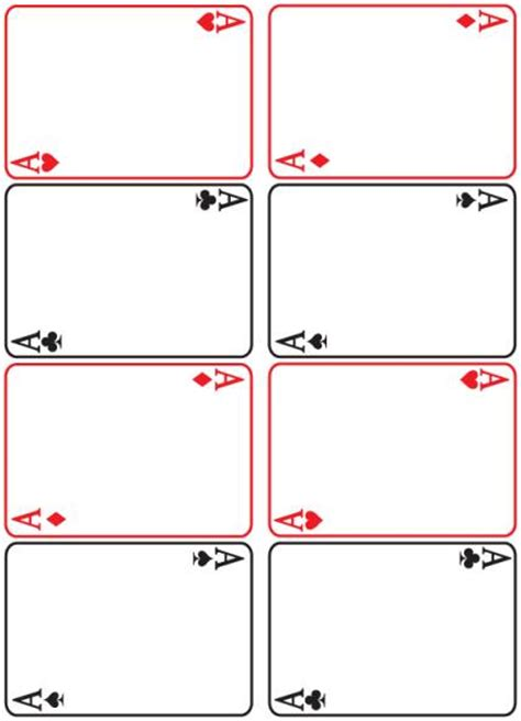 deck of cards book template best photos of blank deck of cards template printable