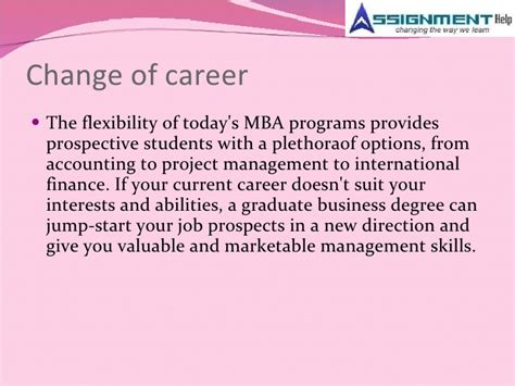 Mba Finance Career Prospects by Assignment Help And Mba Trends In Current Markets