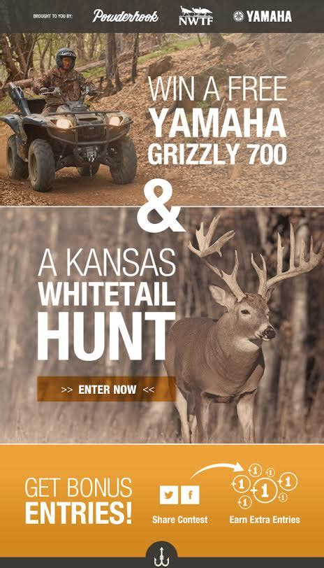 Yamaha Giveaway - 187 yamaha outdoors partners with powderhook com and nwtf to giveaway new grizzly 700