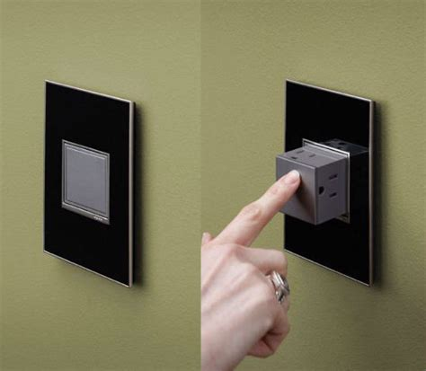 cool wall receptacle pop out outlet cool stuff dude