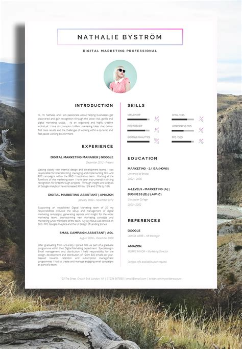 28 free cv resume templates html psd indesign web
