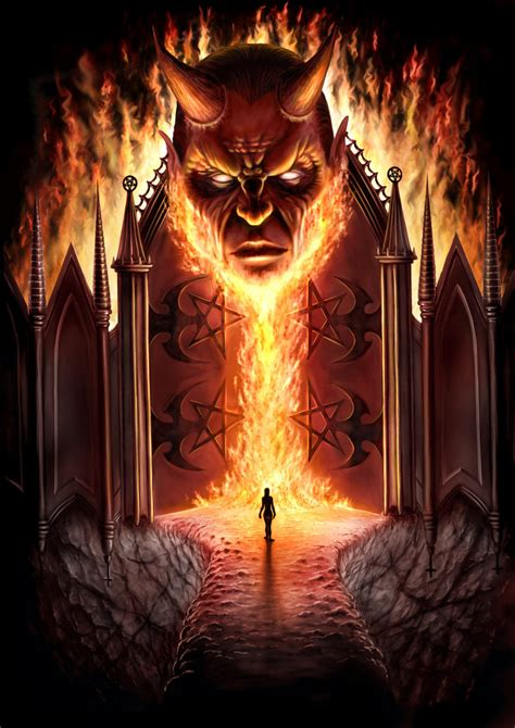 gambar iblis gates of hell by andrewdobell on deviantart