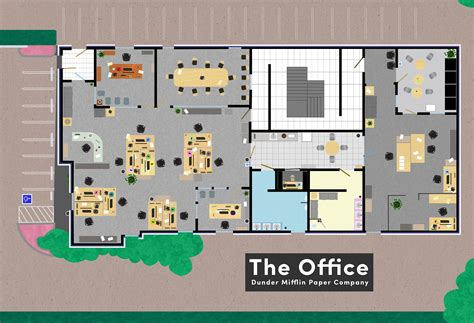 Layout Of The Office | floor plans famous tv and movie businesses bizdaq