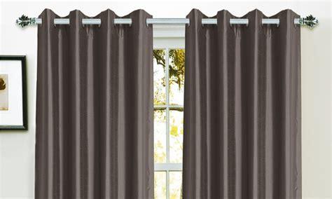 blackout curtain backing bella luna faux silk foam back blackout curtains groupon