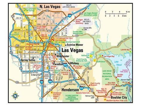 Las Vegas Nevada Area Map Art Print At Art Co Uk