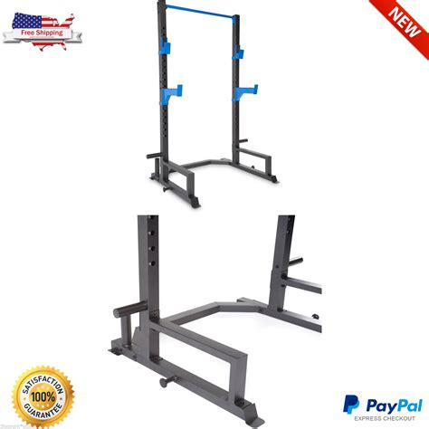 Rack Pull Exercise by Power Lifting Cage Press Rack Squat Weight Fitness