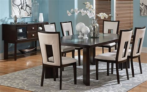 delano espresso cherry extendable rectangular dining room