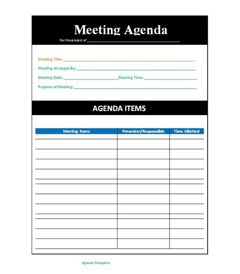meeting agenda template psycho chybernetics tk
