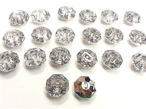 acrylic rhinestone ab10 20 x 20mm clear octa faceted acrylic