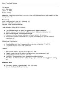 Sle Resume For Receptionist by Receptionist Front Desk Resume Sales Receptionist
