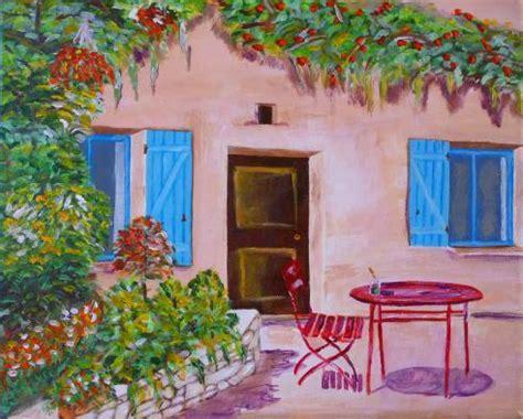 terrasse yves la terrasse fleurie acrylique sur toile yves vinhas
