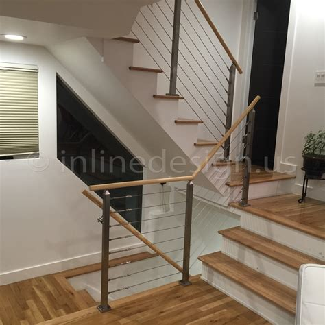 Cable Stair Railing Ahmed Nj Modern Stainless Steel Cable And Glass