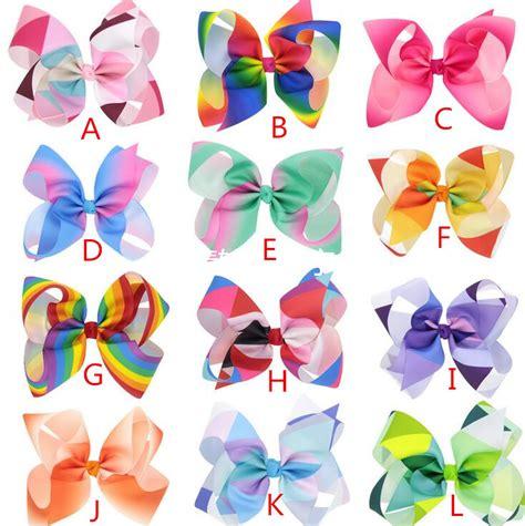 Best Seller Givenchy Antigona In Rainbow Signature Colors Fm 1 aliexpress buy 24pcs free shipping jojo siwa large rainbow signature hair bow from
