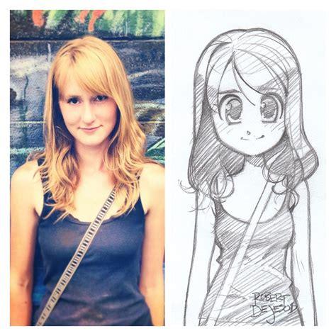 imagenes de personas que extrañas personas convertidas en graciosos dibujos estilo anime