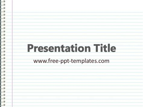 Paper Presentation Ppt Template