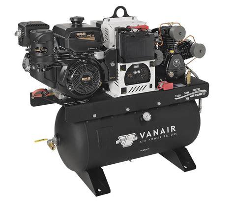 vanair air n arc 150 compressor generator welder combo 050706