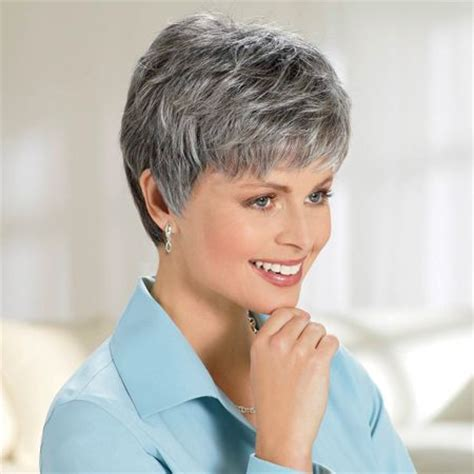 salt and pepper pixie cut human hair wigs 58 best hair images on pinterest short hair short