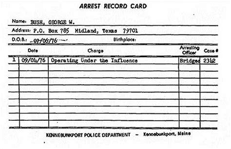 Mississippi Dui Arrest Records George W Bush Dui Arrest Record The Gun