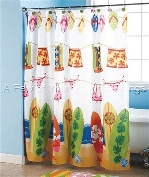surf shower curtain sandal flip flop shower curtain bathroom bath beach
