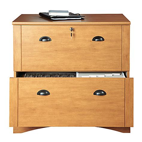 How To Build A Lateral File Cabinet Realspace Dawson 2 Drawer Lateral File Cabinet 29 H X 30 12 W X 21 34 D Maple By Office