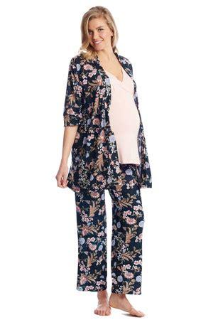 Flowery Sleepwear stylish nursing gowns pajamas and sleepwear figure 8