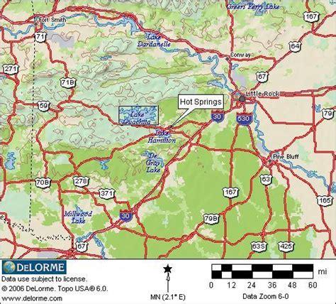 ouachita national forest map arkansas rv cing springs rv cing