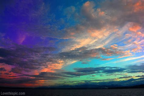 colorful rainbow sky pictures photos and images for