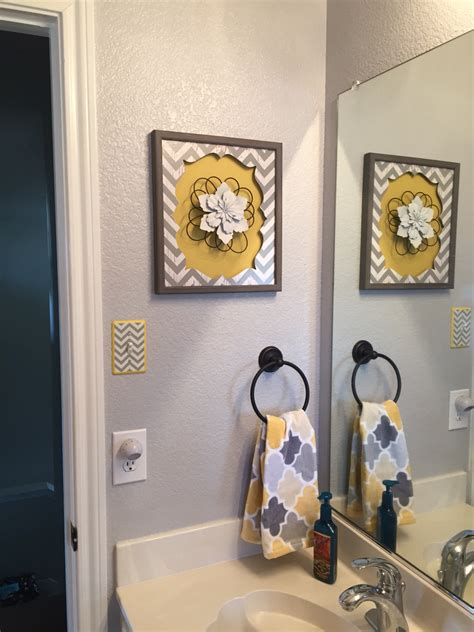 gray and yellow bathroom decor gray yellow bathroom bath redesign pinterest grey