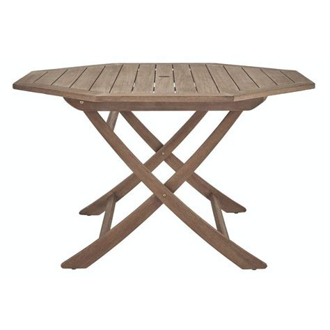 Wood Patio Dining Table Martha Stewart Living Calderwood 54 In Octagon Wood Patio Dining Table 9432700270 The Home Depot