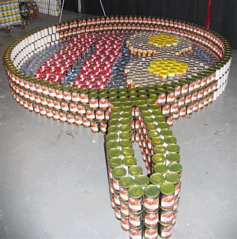 Canned Food Sculpture Ideas | 1000 images about canned art on pinterest sodas international airport and food bank
