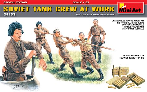 Model Kit Miniart 135 Tank Crew Wwii miniart 1 35 soviet tank crew at work special edition