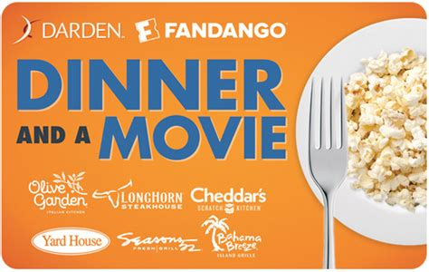 Dinner And A Movie Gift Card Darden - darden restaurants gift cards darden restaurants