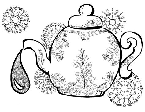creative tea time coloring book coloring books tea coloring pages for adults 5 new pages