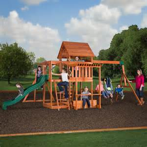 backyard discovery monticello backyard discovery monticello cedar swing set walmart