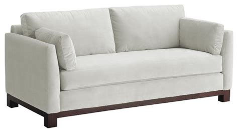 Transitional Sofa by Avalon Sofa White 79x37x30 Transitional Sofas By Apt2b
