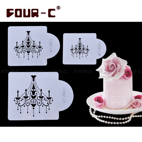 printable christmas stencils for cakes aliexpress com buy chandelier cake stencils christmas
