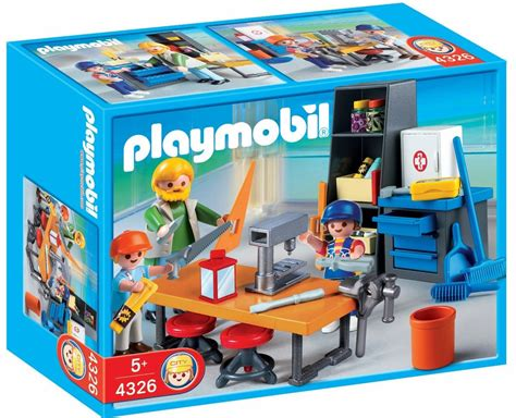 play mobile playmobil school woodshop class set 4326 on sale at