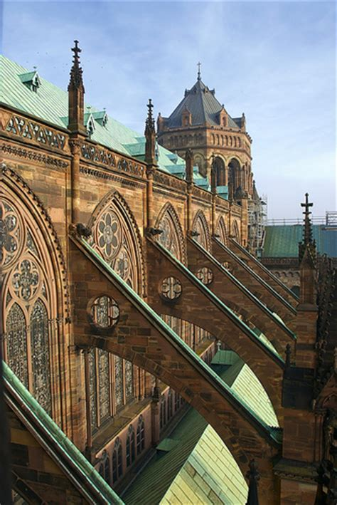 flying buttress flying buttresses of strasbourg cathedral a photo on