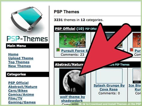 psp themes not showing up how to download and install themes on the psp 11 steps