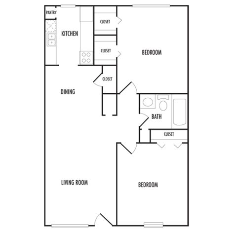 650 sq ft floor plan 2 bedroom floor plans napoleon square apartments