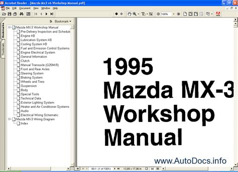 how to download repair manuals 1995 mazda miata mx 5 engine control mazda mx3 repair manual repair manual order download