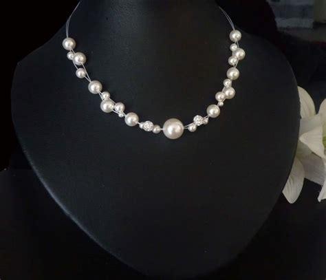 Perlenkette Hochzeit by Hochzeitsschmuck Perlenkette