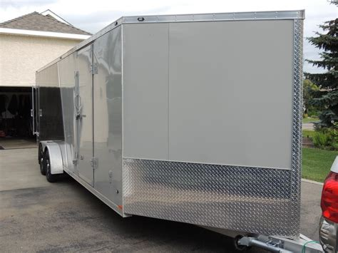 Used Aluminum Trailer Cabinets For Sale by For Sale 2015 Stealth Enclosed Aluminum Snowmobile