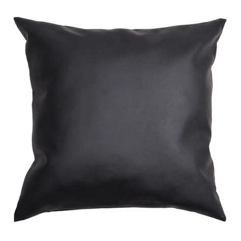 cuscini ecopelle cuscino ecopelle quadrato nero cuscino e fodera per