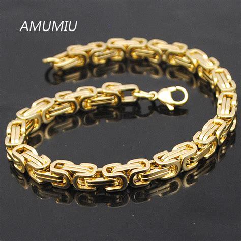 Gelang Stainless Steel Bohemia Open Cuff aliexpress buy amumiu promotion s bracelets gold chain link bracelet stainless steel