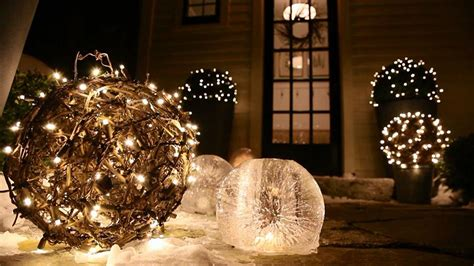 how to do tree lights outdoor decorations