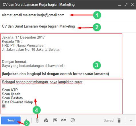 format mengirim surat lamaran kerja lewat email cara mengirim lamaran lewat email contoh surat lamaran kerja