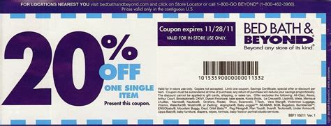 Bed Bath And Beyond Coupons 20 Off Canada