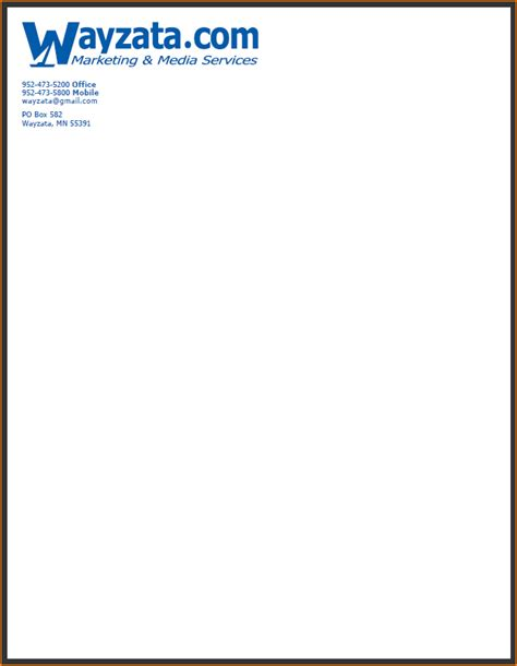 business letter template no letterhead 4 business letterhead exles teknoswitch
