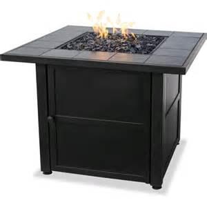 walmart propane pit uniflame lp gas ceramic tile pit table walmart